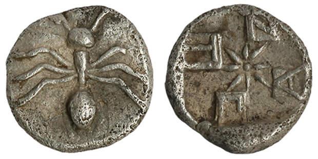 Тетартемарий-серебро-420г.до н.э.-муравей-ПАNТI