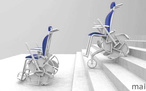 Выпускница МАИ разработала шагающее колесо для инвалидных колясок