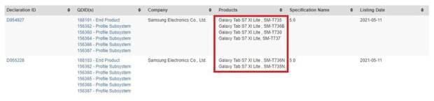 Не Galaxy Tab S7+ Lite: новый планшет Samsung будет называться Galaxy Tab S7 XL Lite