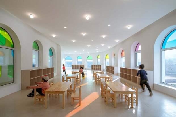 Как выглядит самый красивый детский сад в виде торта-калейдоскопа