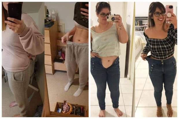 Старая одежда на новом теле: 20 фото девушек до и после похудения