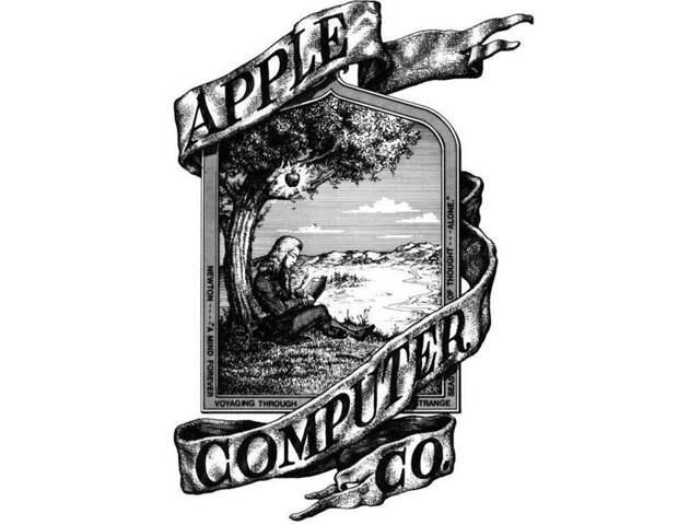 На первом логотипе Apple был Исаак Ньютон