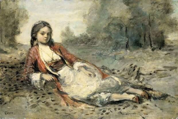 Коро, Жан Батист Камиль (Corot, Camille) - Алжирка (Algerienne), 1871-1873.