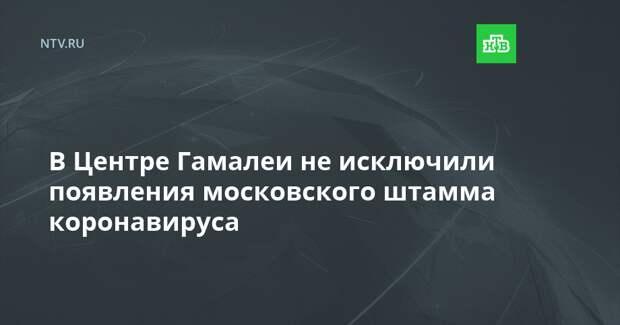 В Центре Гамалеи не исключили появления московского штамма коронавируса