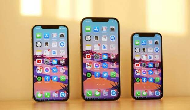 На живых фото в Сети сравнили вырез на iPhone 13 с iPhone 12