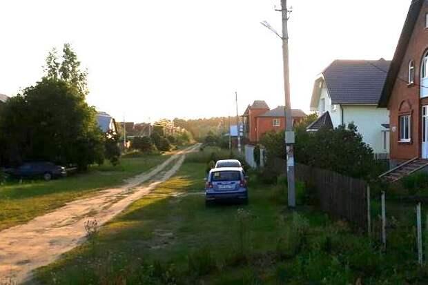 Подмосковье, деревня Лужки. Штраф за парковку у собственного дома.
