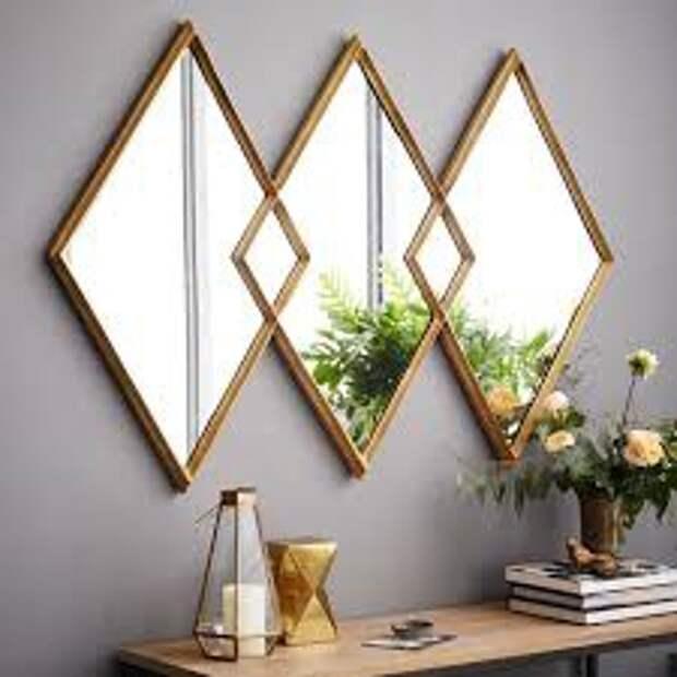зеркало в интерьере.