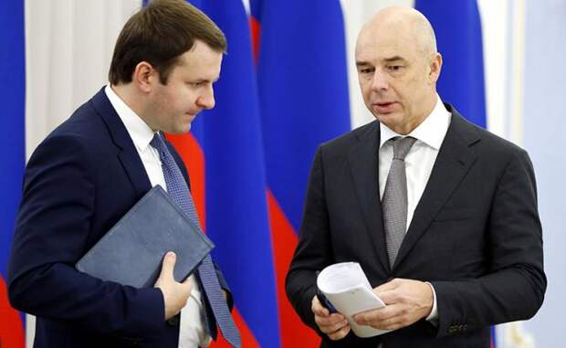 На фото: министр экономического развития РФ Максим Орешкин и первый вице-премьер РФ – министр финансов РФ Антон Силуанов (слева направо)