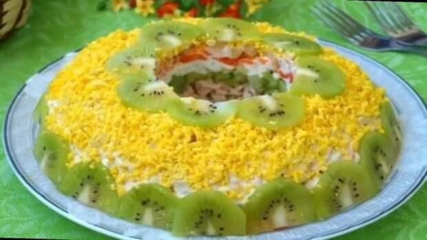 Салат Зелёный браслет. Нежный салатик с орехами, курицей и сыром 4