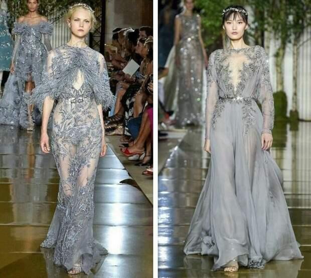 Серые вечерние платья на пике популярности — какие фасоны выбирать