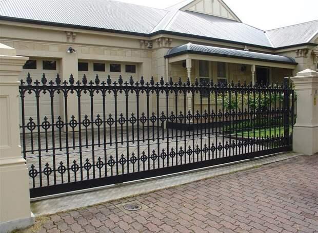 Ворота для частного дома: как выбрать эффектную защиту? (38 фото)