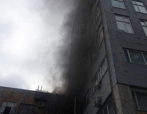 Здание РБК эвакуировали из-за пожара