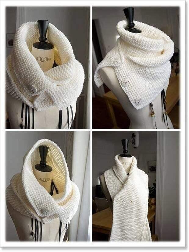 Оригинальные шарфы. Идеи для творчества.