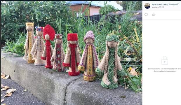 Участники творческих студий в Северном создали коллекцию уникальных кукол