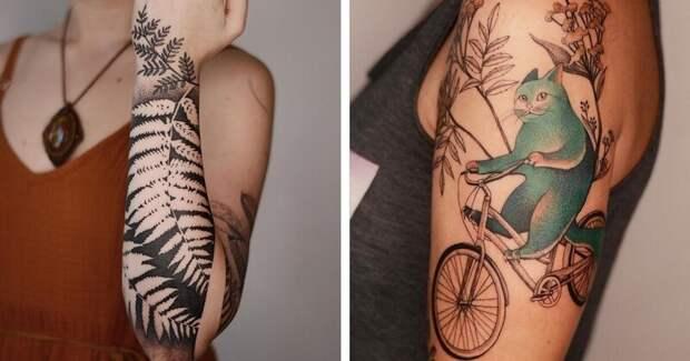 20 хипповских татуировок от тату-художницы Dzo Lamka из Польши