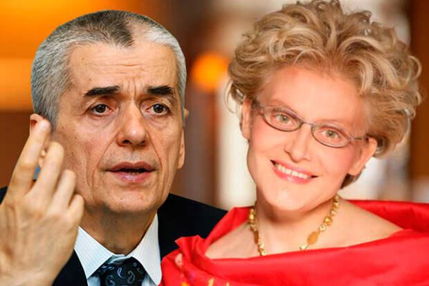 У Геннадия Онищенко и Елены Малышевой разное мнение по поводу полезности масок.