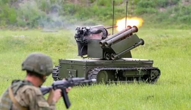 Научениях «Запад-2021» Россия впервые применила боевые роботы «Платформа-М»