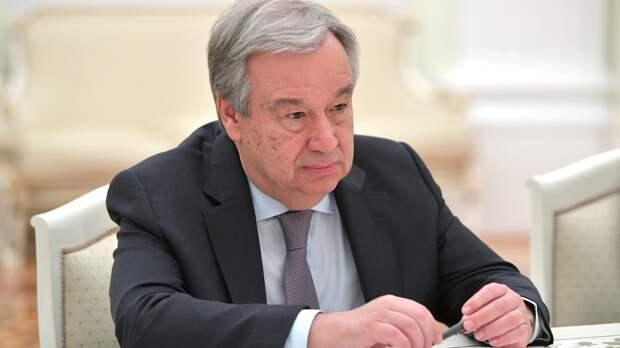 Генсек ООН призвал стороны конфликта в Донбассе соблюдать режим прекращения огня