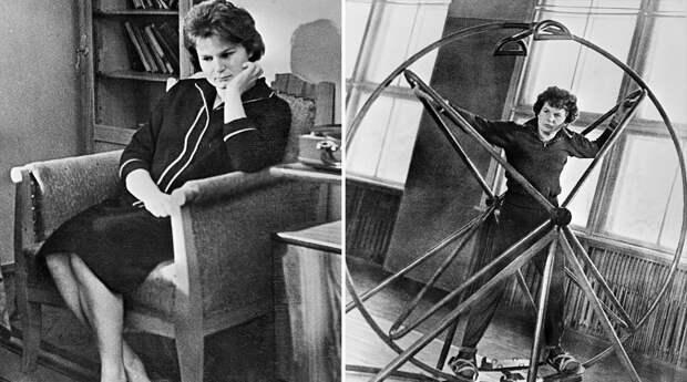 Валентина Терешкова на отдыхе и на тренировке, 1963 год