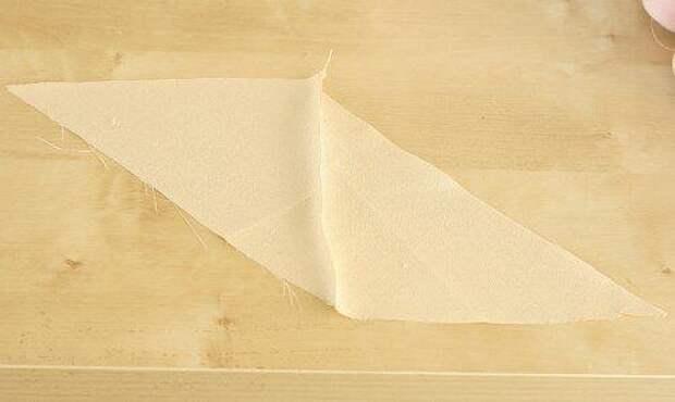 Как сделать косую бейку быстро, если ткани мало? Фото МК