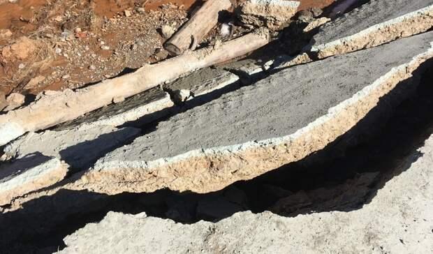Ремонт после разрушения участка дороги требуется между Серебрянкой и Верхней Ослянкой