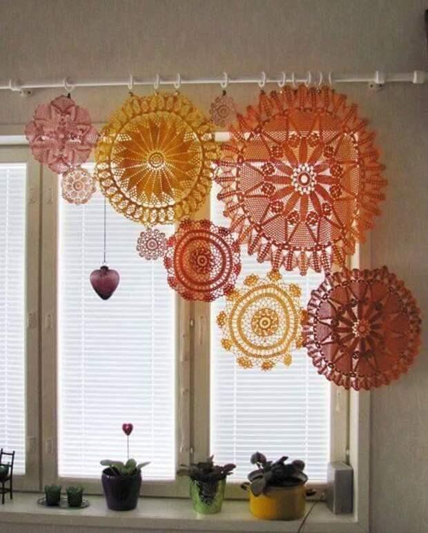 Салфеточные шторы (подборка)