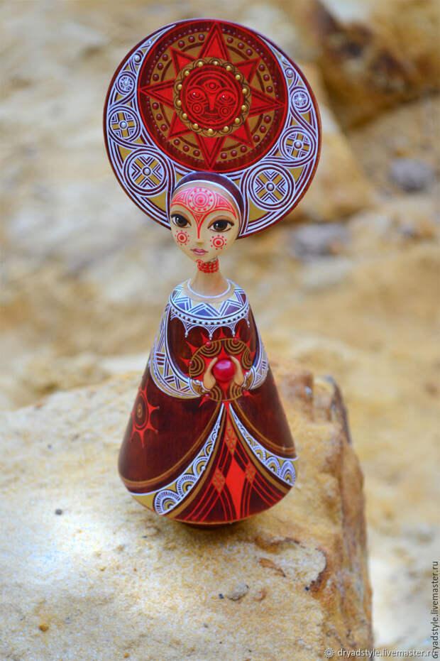 Шарнирная кукла.Кукла из дерева. Символ солнца.Ярола, Статуэтки, Сумы, Фото №1
