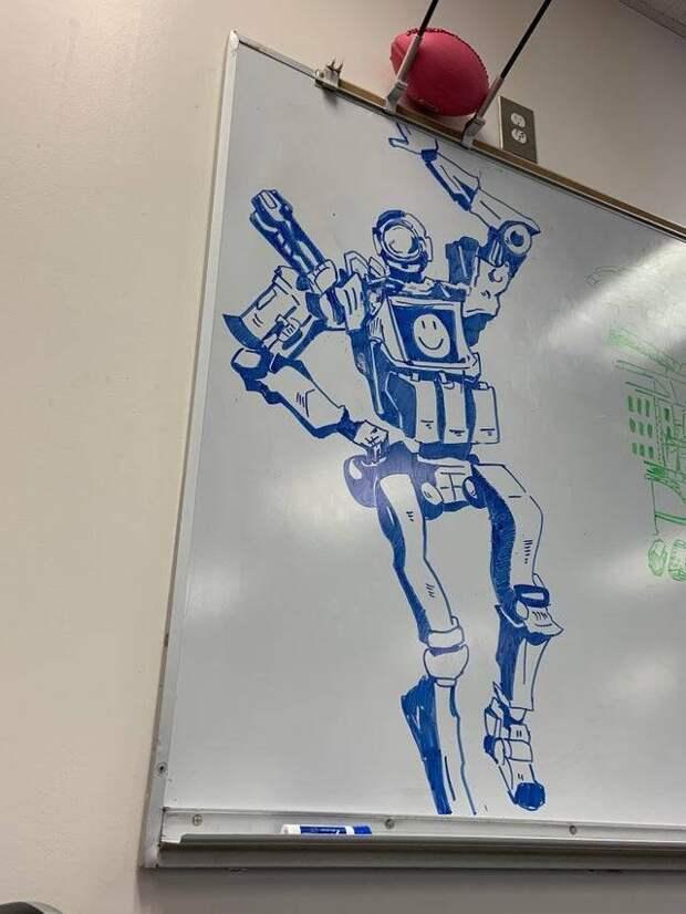 Рисунок на школьной доске