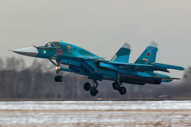 Отработка сложных пилотажных элементов и бомбометания на Су-34