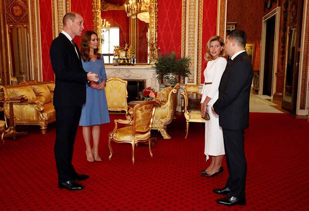 Кейт Миддлтон и принц Уильям приняли в Букингемском дворце Владимира и Елену Зеленских