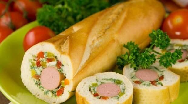 Закрытый бутерброд багет, вкусняшки, еда, интересное, рецепты, фото