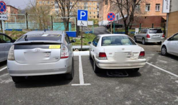 В Приморье накажут таксиста, припарковавшего свой «Приус» на местах для инвалидов