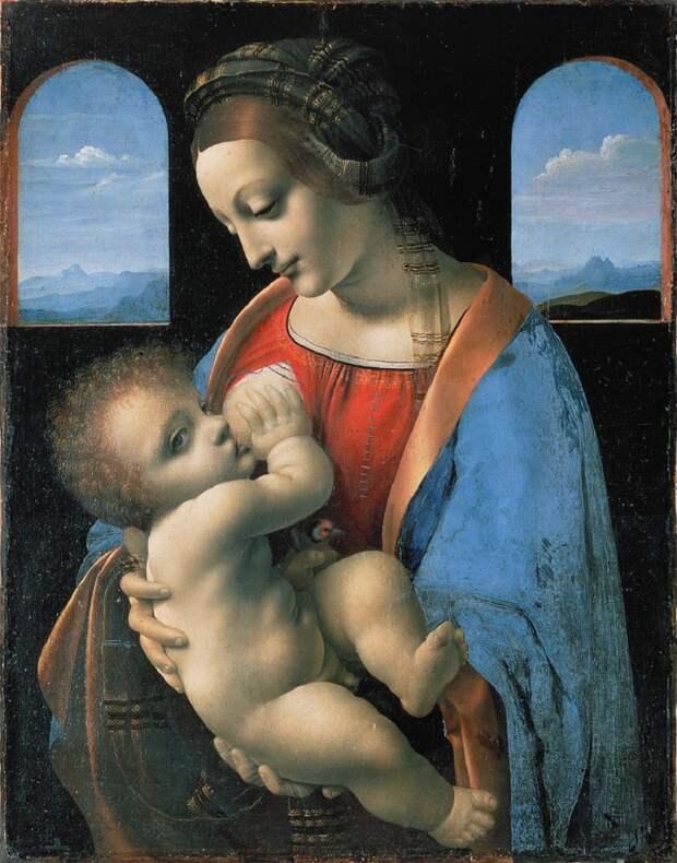Леонардо да Винчи «Мадонна Литта» 1491Хранится в Эрмитаже в Санкт-Петербурге.