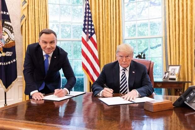 Президенты Польши и США