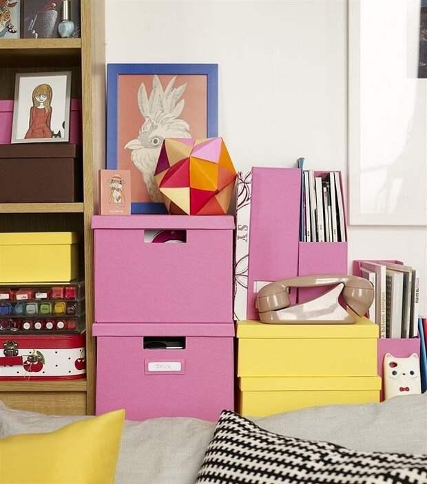 Коробки маленькой квартире необходимы. Но только не скучные.