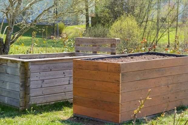 Высокий подиум для огородных культур