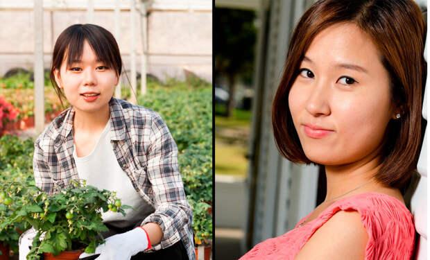 Китаянка слева, кореянка справа