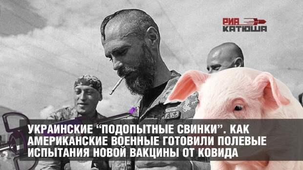 """Украинские """"подопытные свинки"""". Как американские военные готовили полевые испытания новой вакцины от ковида"""