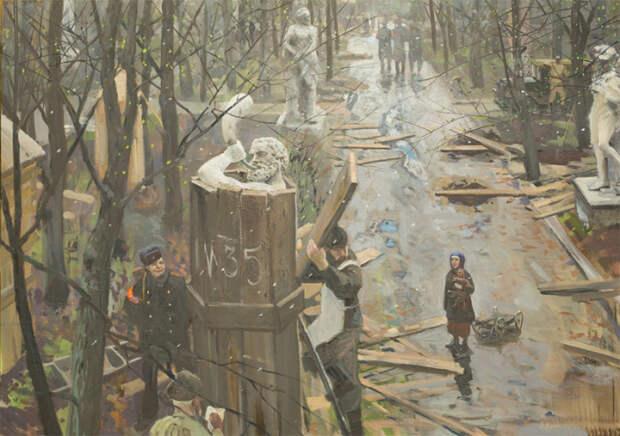Снятие блокады Ленинграда. Автор: Павел Рыженко.
