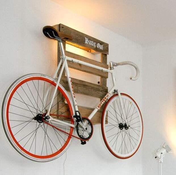 идеи как подвесить велосипед