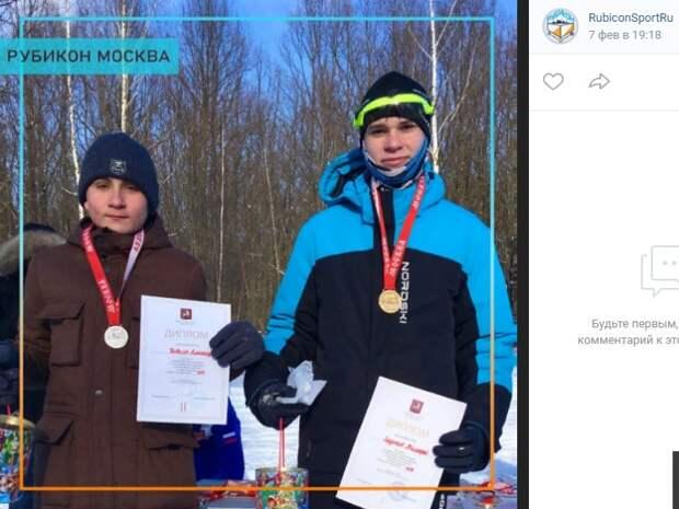 Лыжники из Митина заняли весь пьедестал на Первенстве Москвы