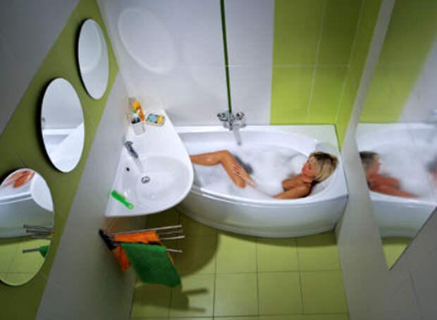 сантехника в маленькой ванной