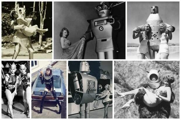 Писалось множество книг, снималось множеств фильмов не тему освоения космоса, и жизни людей с пришельцами и роботами. И конечно это не могло не породить особую моду и желание придумать себе своего, особого робота или необычный космический костюм девушки, интересное, космос, предки, роботы, фантазии, фотомир