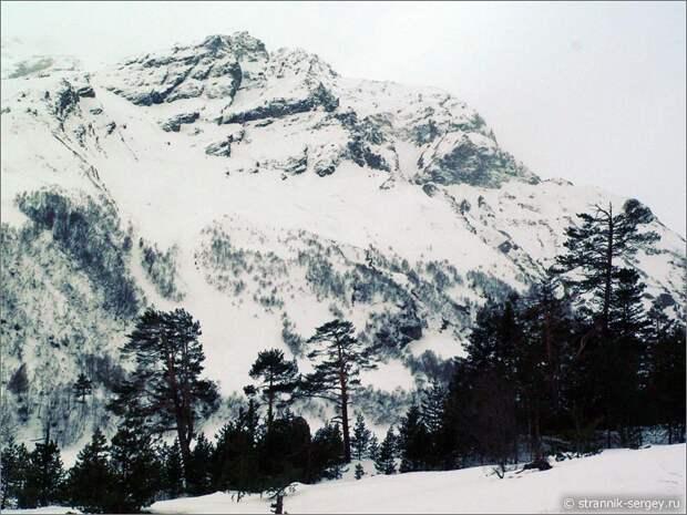 Баксанское ущелье горы пасмурный день