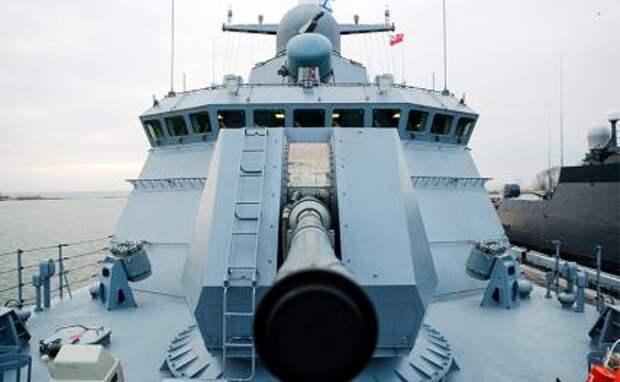 """На фото: новейший малый ракетный корабль проекта 22800 """"Каракурт"""", оснащенный комплексом """"Калибр"""""""