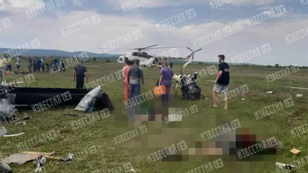 Тела погибших разбросало на десятки метров при крушении самолета L-410