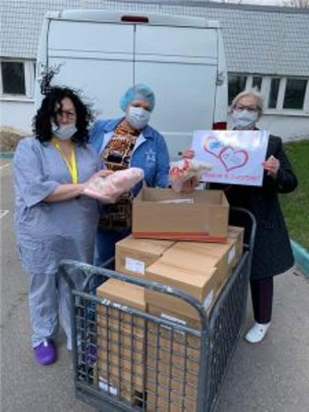 Поликлиники района Марьино получили помощь от профсоюза работников здравоохранения
