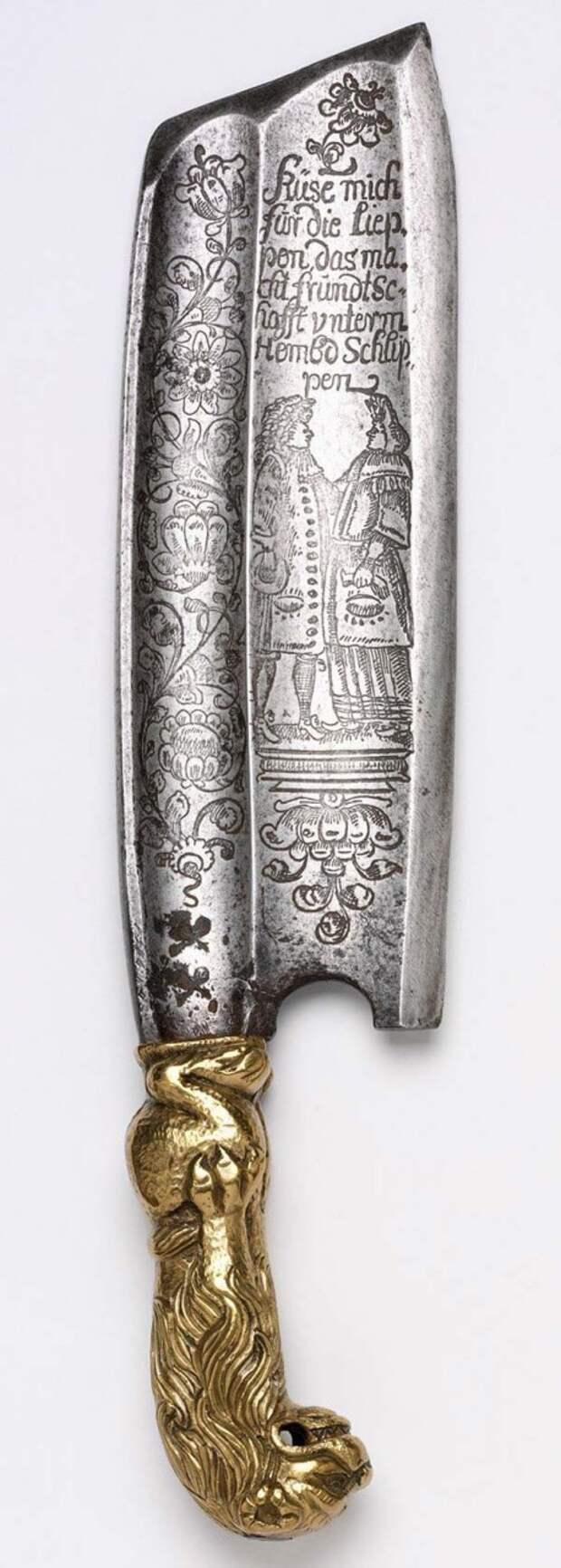 7. Нож бондаря. Сталь, латунь. Германия, 1702 год. искусство, история, факты