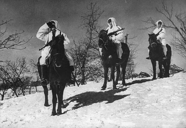 Конная разведка. Опять белые маскхалаты СССР, война, история