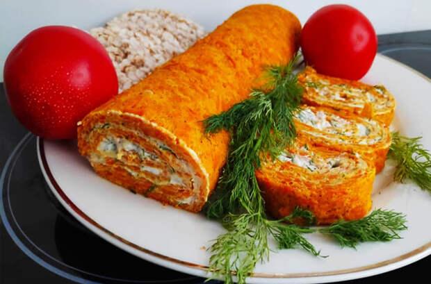 Рецепт морковного рулета
